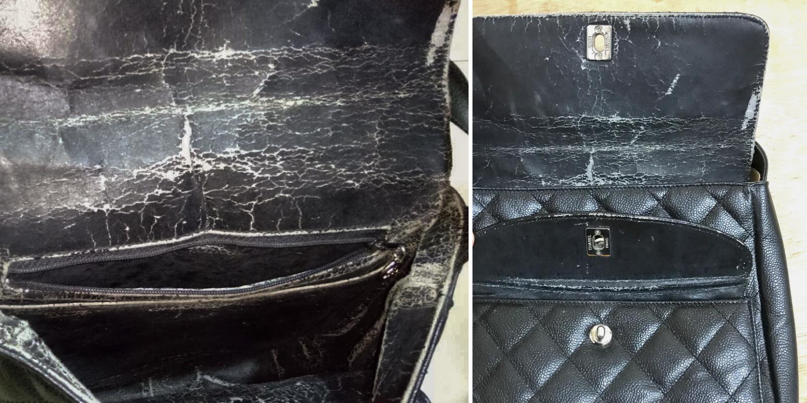 Chanel 菱格纹包内里翻新与背带更换