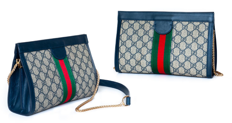 Gucci 1955 horsebit 马衔扣肩背包与 Ophidia GG Supreme 绿红带晚宴包