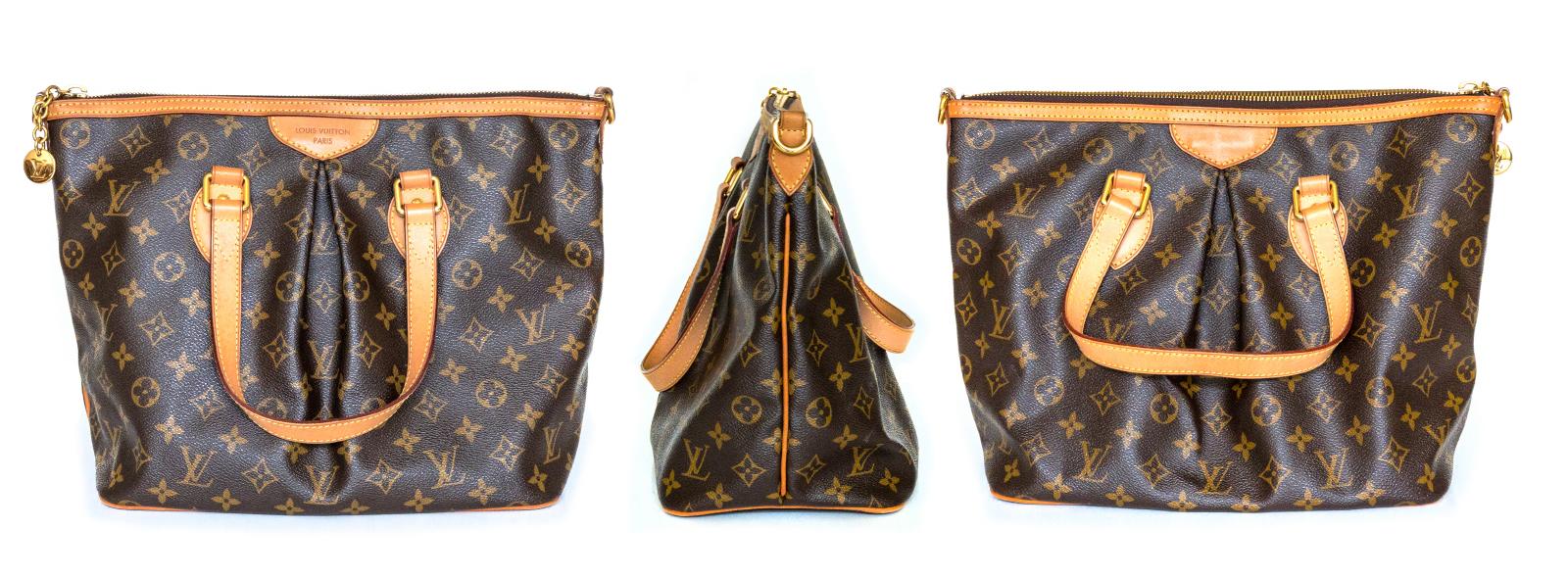 【LV皮包】 Palermo MM 托特包与 Jamais 限量秀款水彩印肩背包改成 NANO NOÉ 迷你水桶包