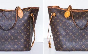 【LV皮包】 Neverfull MM 中款购物包改成 Saintonge 相机包与 Neonoe BB 小水桶包
