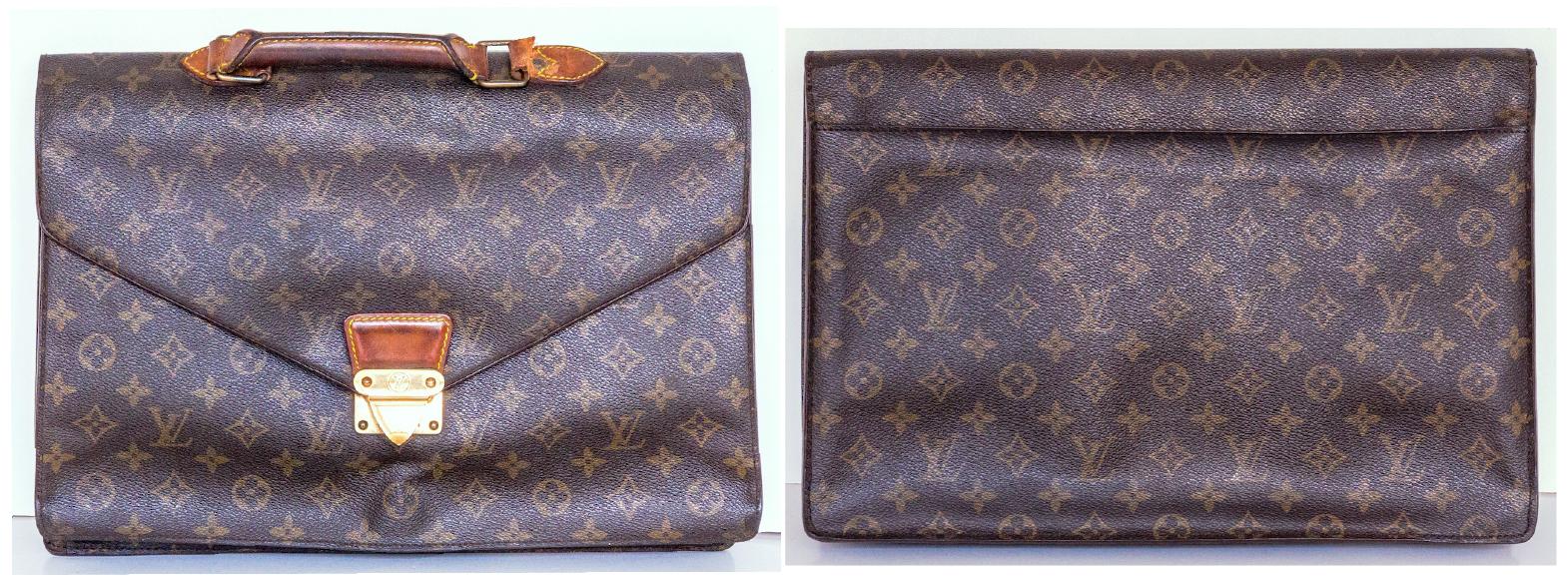 【LV皮包】 绝版Serviette Conseiller 公文包与 Palm Spring Mini 后背包